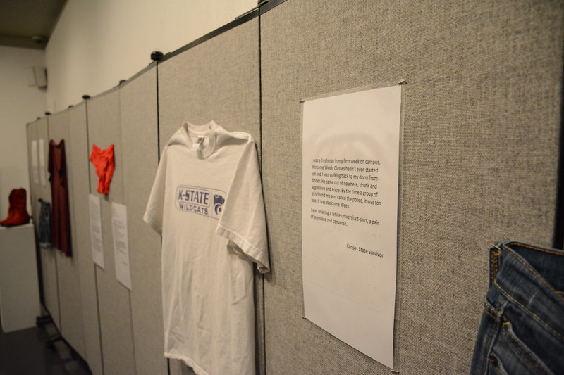 "The ""What Were You Wearing?"" Survivor Art Exhibit provides a tangible response to one of our culture's most pervasive rape myths: that victims are somehow to blame because of their clothing choices. The outfits featured are recreated from the real stories of survivors in the Manhattan-area community. (Conrad Kabus 