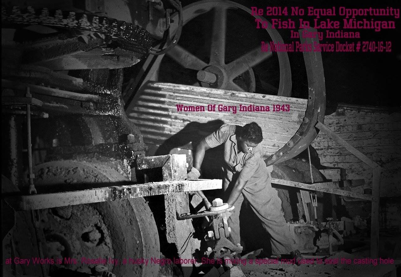 Women worked in the mill in Gary !