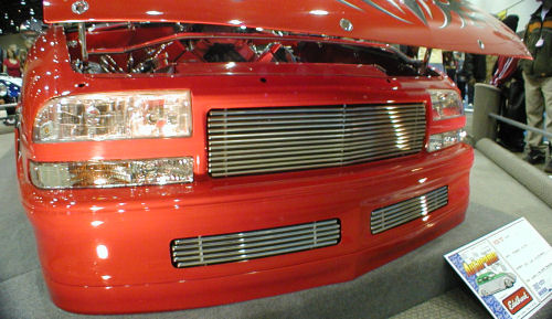 We built custom grilles for the front of Bob's Wicked Extreme. Look good don't they!