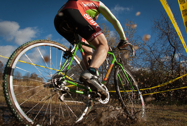 A cyclo cross rider in action in Windsor, Vermont