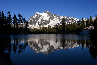 Picture lake with Mt Shukson.