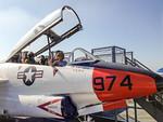Debi on USS Midway