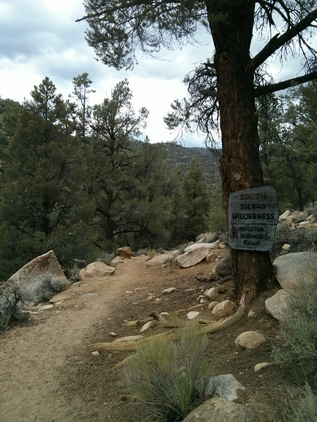 Entering the South Sierra Wilderness.