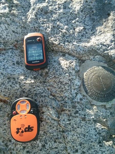On the summit of Morris Peak.