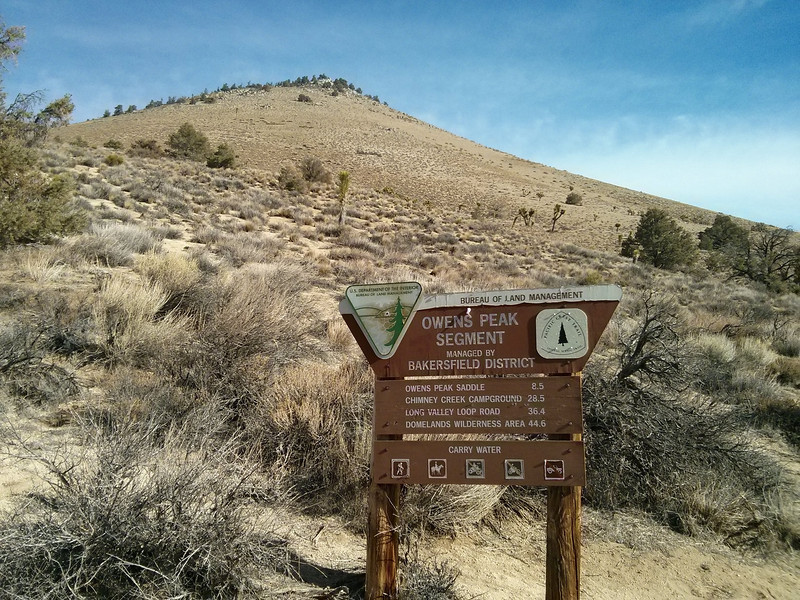 Heading up the Pacific Crest Trail.