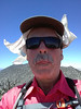 Morris Peak summit self-portrait.<br /> <br /> I don't know why I was sticking my tongue out.