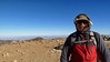 On the summit of Mt. Baldy on a blustery day.<br /> <br /> Would have been real warm if the wind wasn't howling.