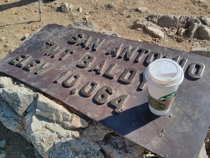Starbuck's on the summit.