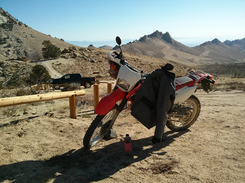 The CRF-230L parked at the trailhead.