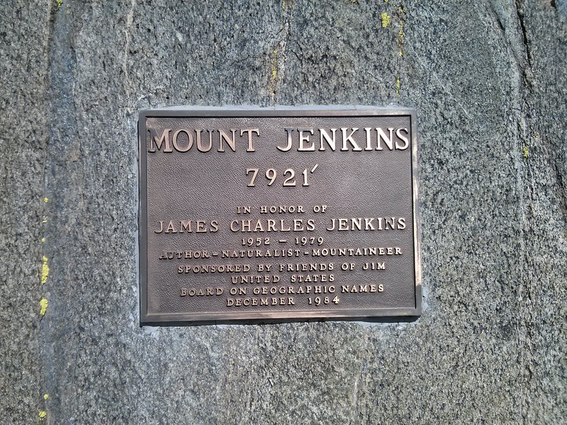 The Jenkins plaque along the PCT.