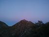 Morris Peak at dusk.