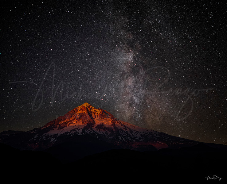 Milky Way Over Mt. Hood 9528 w72