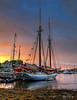 Camden Harbor Sunrise 3291 w74