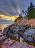 Bass Harbor Heavenly Sunset  0446  w61  16x20