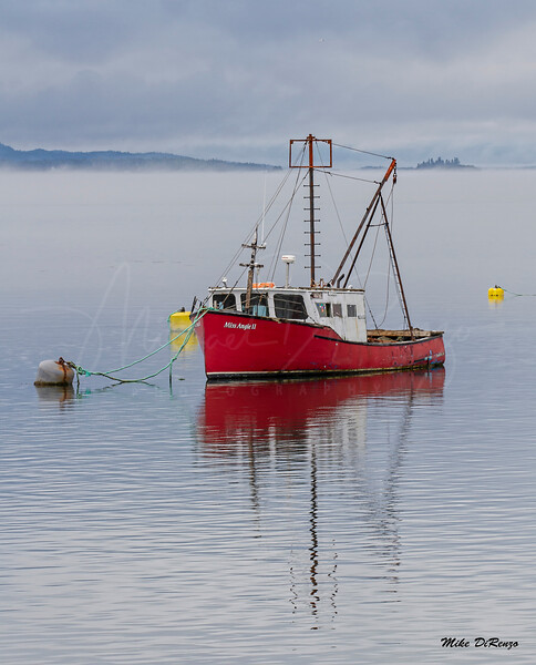 Red Boat in the Fog 0533 w63