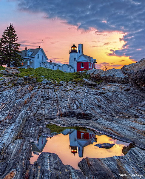 Reflections of Pemaquid Point 1188 w55