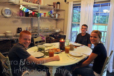 September 27, 2011  My son (the redhead), my daughter and her boyfriend on my birthday. It was a lovely birthday dinner and a day full of love from family and friends - just wonderful!