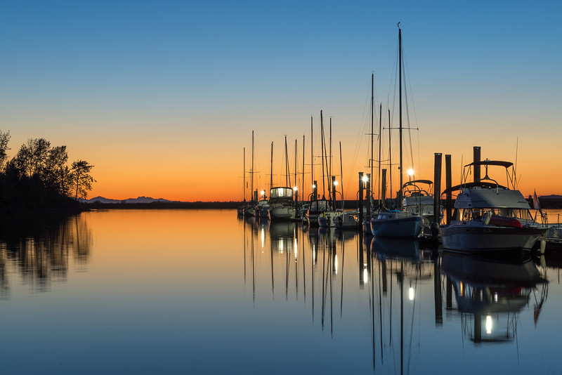 Sunset - Crescent Beach Marina