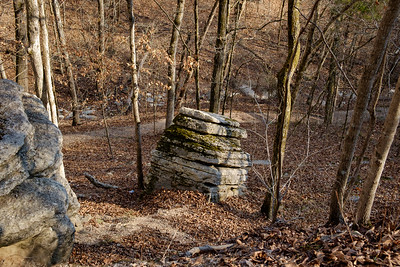 Rock formations, Devil's Kitchen trail. Roaring River State Park near Cassville, Missouri