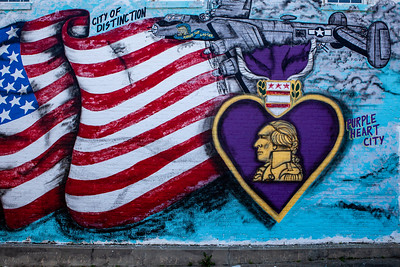 Mural Purple Heart City McRae GA_2002
