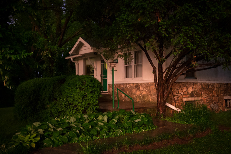Our house in the last rays of the day. Before I learned how to set a proper shutter speed to prevent blurry photos.