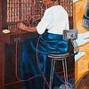 Mural African American Woman Manual Telephone Switchboard Operator Lufkin TX_1095