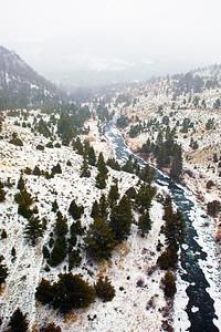 Snowing Gardiner River Yellowstone NP_9252