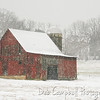 Little Red Barn on a Snowy Day