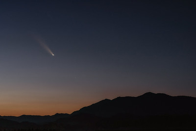 Neowise Comet before Sunrise