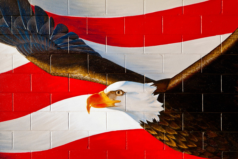 Eagle & Flag Mural Sheridan WY_9314
