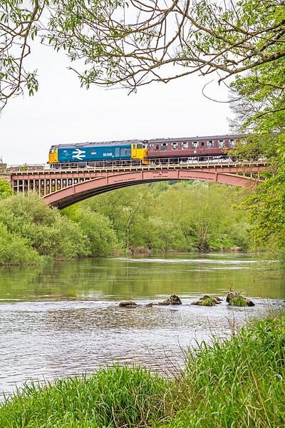 50049 on Victoria Bridge - 19 May, 2016