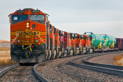Nine Engine Train Gillette WY_9444