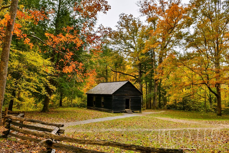 Fall At Little Greenbrier School House