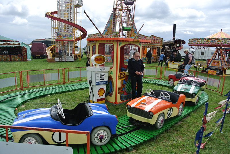 Old fair ground at Gloucesterhire Vintage and Country Extravaganza