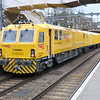 DR 97806 Robel Mobile Maintenance Train on route from St Leonards to Shoeburyness passing Highbury and Islington