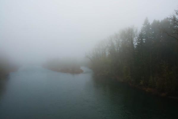 Clackamas river fog
