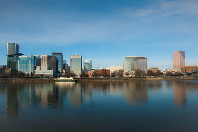 Portland from the east Esplanade