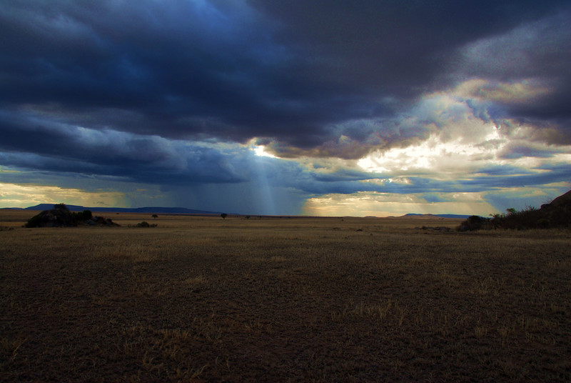 Weather change on the Serengeti