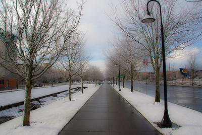"2/25/11 Yesterday was another Snow day here in Portland OR. 1"" of snow and kids stay home from school! Really! Thanks for all your coment's on yesterdays ""Bridge into the fog"" photo. Not to often, do you see the mighty Columbia river so calm."