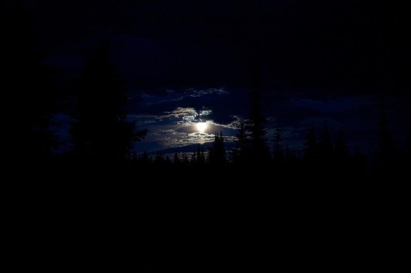 Moonrise over Indian Heaven Wilderness July 2011