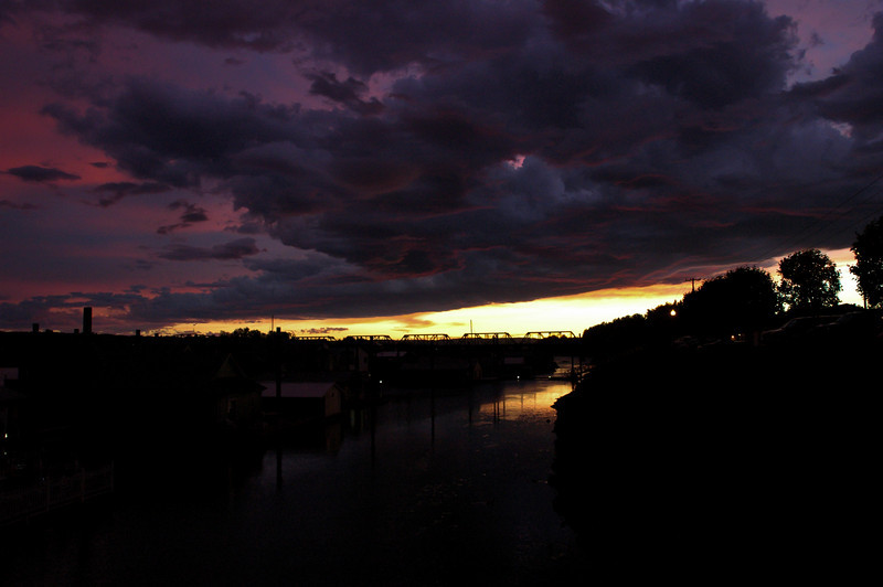3/15/11<br /> Sunset over our moorage.