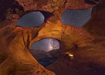 Spiderweb Arch, Inside