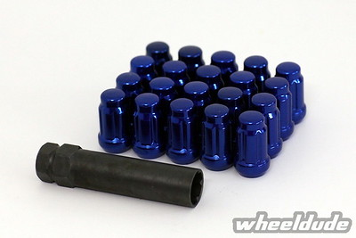 Red and blue wheeltek lugs