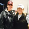President of the football team Lorrie Stewart of Groton and Stephanie Tully of Dunstable, who made the special event possible