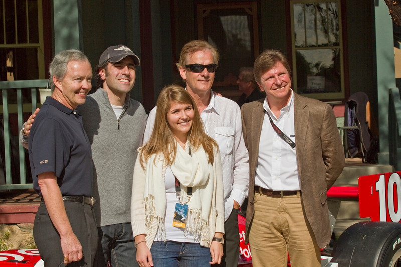 Harley Cluxton, III, Dario, Arie Luyendyk and Didier Theys with a beautiful guest