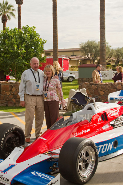 Mr & Mrs Walton and their famous race car