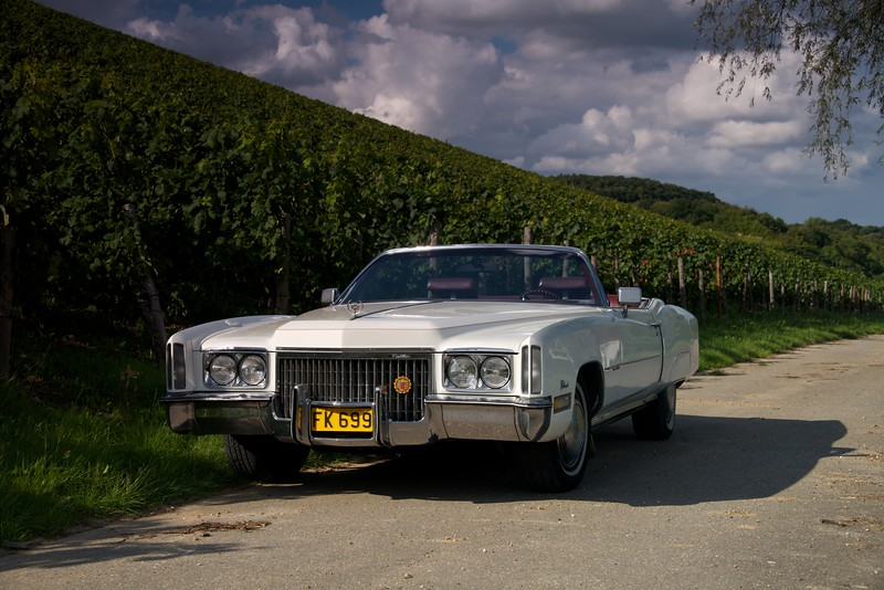 Cadillac Fleetwood Eldorado Convertible from 1972. 500 cubic inch - 8.2 litre V8 engine, 400 SAE horse powers, front wheel drive - magnificent!