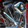 Chromed Custom V-Twin Motorcycle Engine