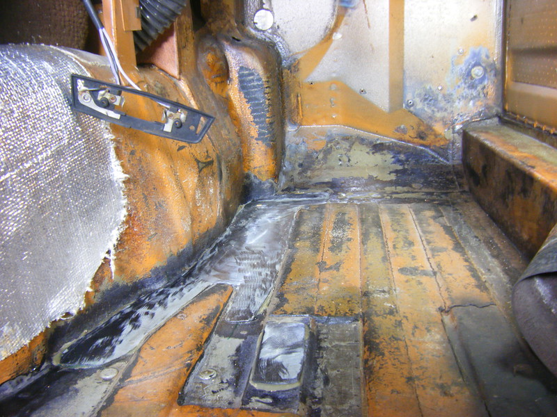 July 2012; Floor repaired with metal.