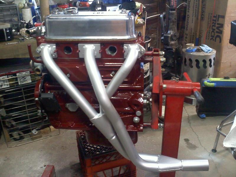 Peco header on freshly painted engine.